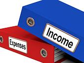 Income Expenses Files Show Budgeting And Bookkeeping