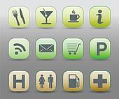 Hotel tourist Communication Icons
