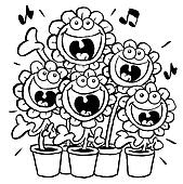 Singing sunflowers.OL