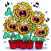 Singing sunflowers.
