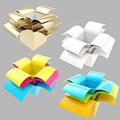 Package parcel boxes, set of four isolated