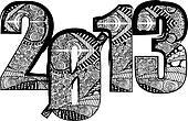 happy new year 2013. Vector illustration