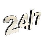 24/7 twenty four hour seven days a
