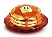 Whimsical Cartoon Pancake Stack