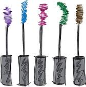 Sketch of Eyelash brush. Vector illustration