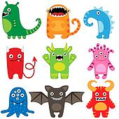 Monster Clip Art - Royalty Free - GoGraph