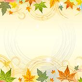 autumn background with circles