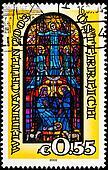 Jesus, Virgin Mary, Joseph Stained Glass