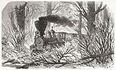 Train through fire