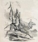 Camel artillery man