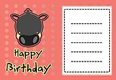 cute wild boar birthday card