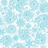 Abstract art blue vector flower