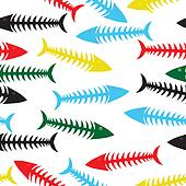 Fish bone background