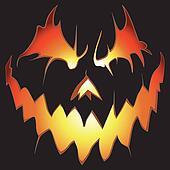 Halloween background. Scary pumpkin.