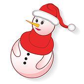 Icon christmas snowman