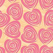 Flower background with rose like heart.