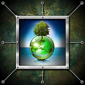 Saving World Frame - Ecology Concept
