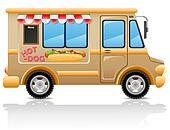 car hot dog fast food vector
