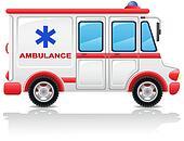 ambulance car vector illustration