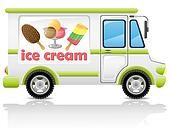 car carrying ice cream vector