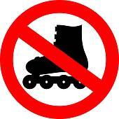 Vector no roller skate sign