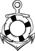 anchor and ring-buoy