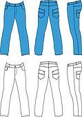 Blue man's jeans