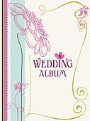 Wedding album cover vector illustration