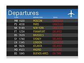 Airport crisis departure table