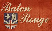 Grunge Baton Rouge flag