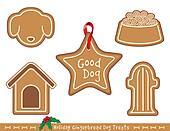 Dog Treats, Holiday Gingerbread