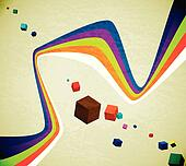 Flying cubes and ribbons