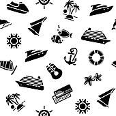 wrapping paper - transport icons, 10eps