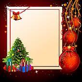 christmas tree with a big sign