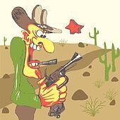 Western sheriff in western landscape
