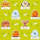Funny dog snouts seamless pattern