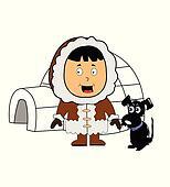 eskimo with igloo