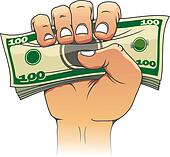 Hand Holding Banknotes Clip Art - Royalty Free - GoGraph