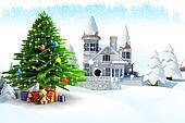 christmas tree on iceland