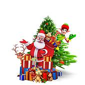 santa with a lots of gifts