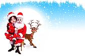 santa claus wityh santa girl