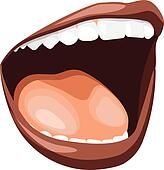 Female Mouth Clip Art - Royalty Free - GoGraph