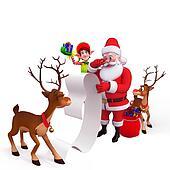 santa with a big list
