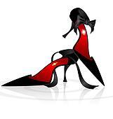 black lady's shoes