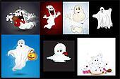 Halloween Ghosts Vectors