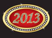 New year 2013 icon with