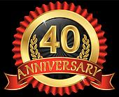 40 years anniversary golden