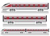 speed train locomotive and wagon