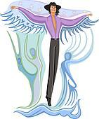 Fashion flying man
