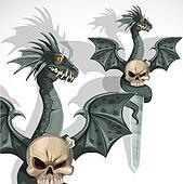 Ritual dagger with a dragon